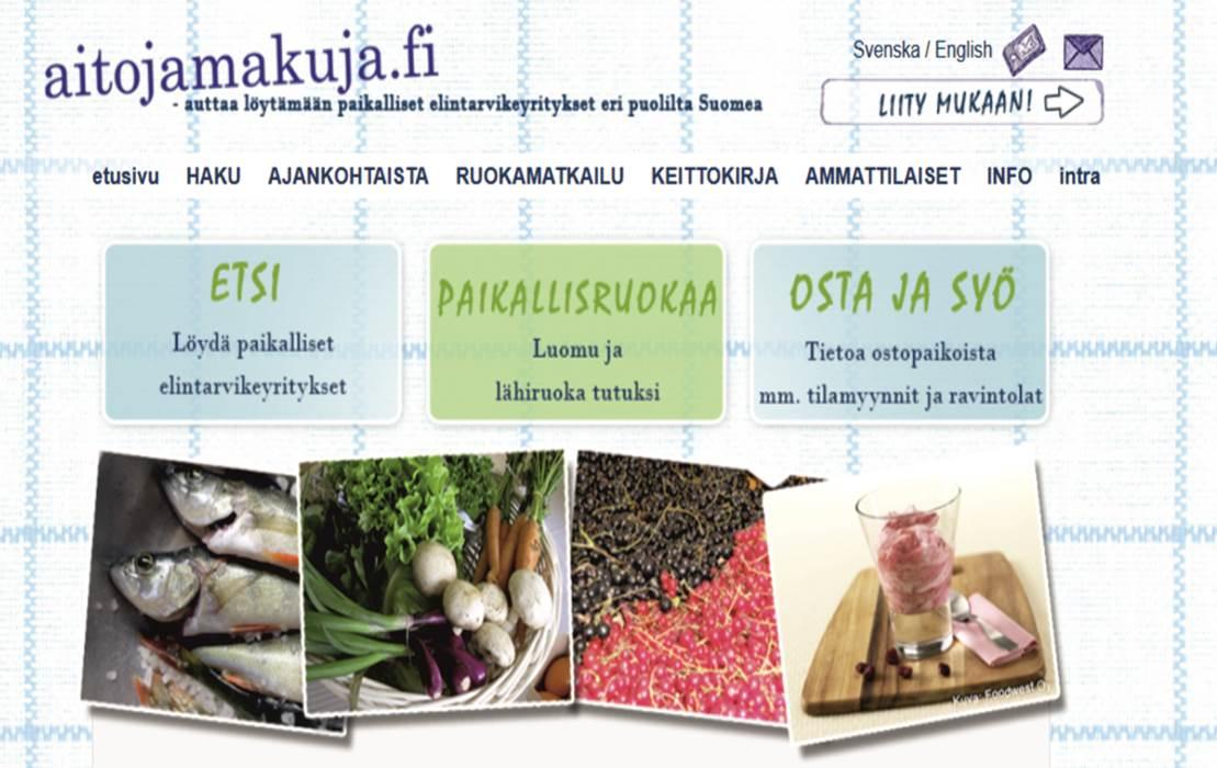 Aitojamakuja.fi auttaa löytämään paikallisia leipomoita, tilamyyntikohteita ja monia muita paikallisen ruoan tekijöitä.