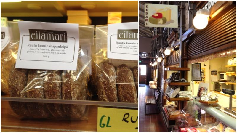 Eilamarin tuotteita saa esimerkiksi Turun Kauppahallin Eedamista.