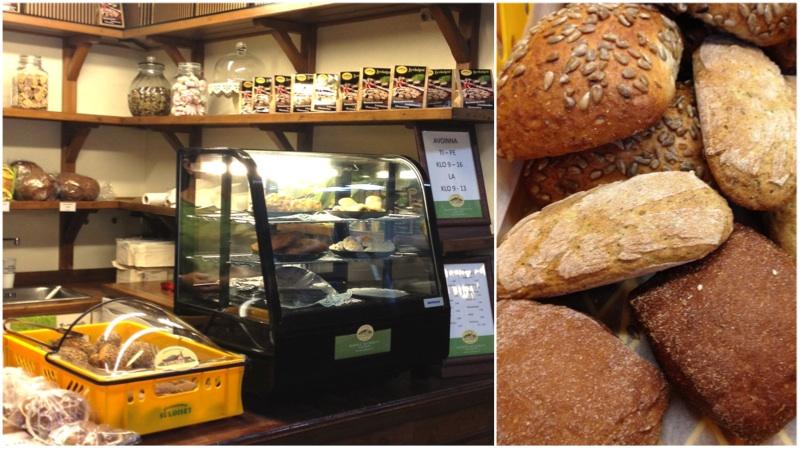Leipomo Suloisilla Gluteenittomilla on hallissa oma myymälänsä.