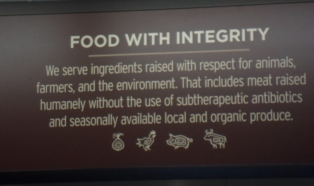 Food with intergity