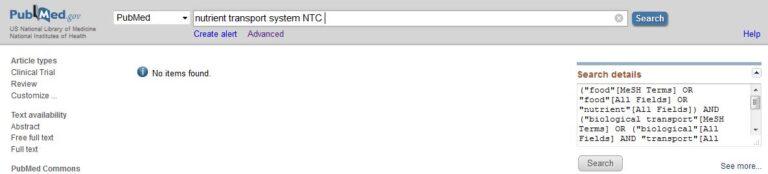 Medline haku NTC-konseptista