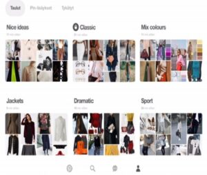 Pinterestissä on helppoa ja nopeaa kerätä eri otsikoiden alla kuvia kyseisestä aihepiiristä.