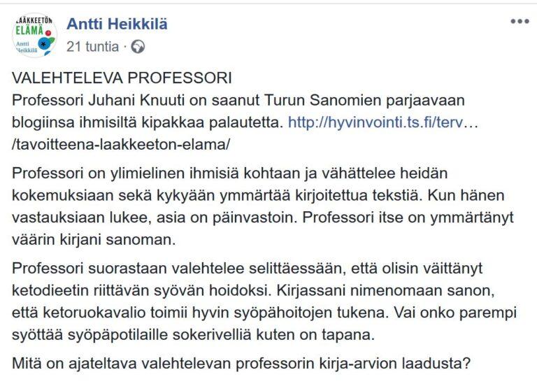 Antti Heikkilän kirjan kritiikistä seurasi parjausta ja